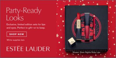 Party-Ready Looks, Shop Now, Estee Lauder