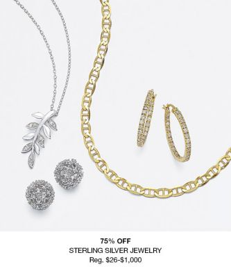 75 percent off Sterling Silver Jewelry