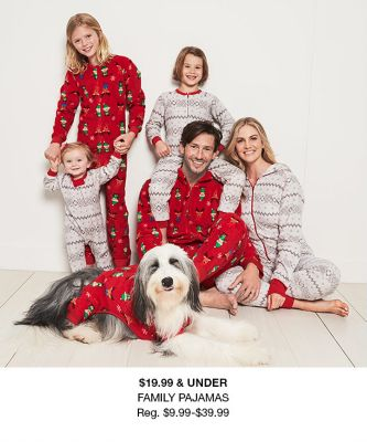 $19.99 and Under, Family Pajamas, Reg. $9.99-$39.99