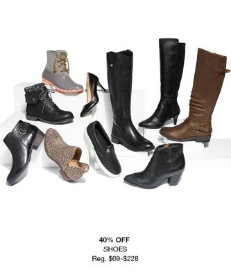 40 percent Off, Shoes, Reg. $69-$228