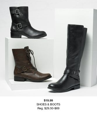 $19.99, Shoes and Boots, Reg. $29.50-$69