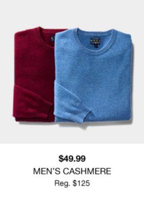 $49.99, Men's Cashmere