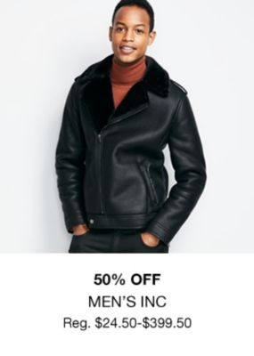 50 percent off, Men's Inc