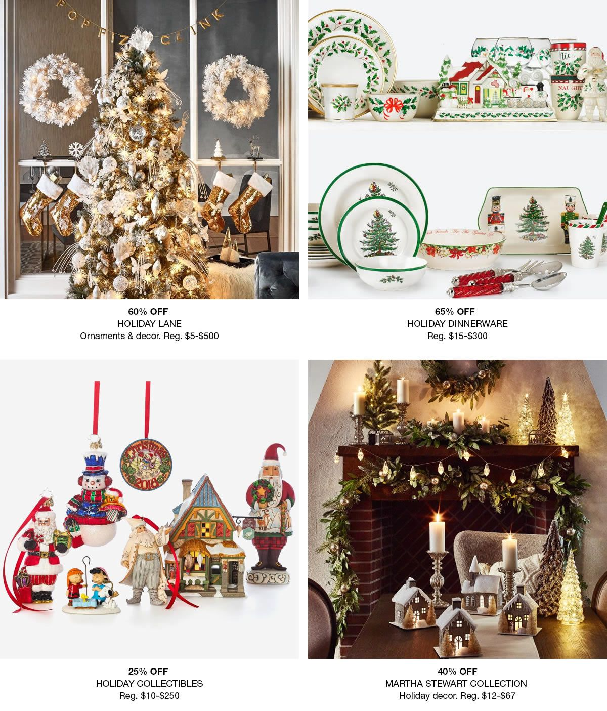 Christmas Decorations - Holiday Lane - Macy\'s
