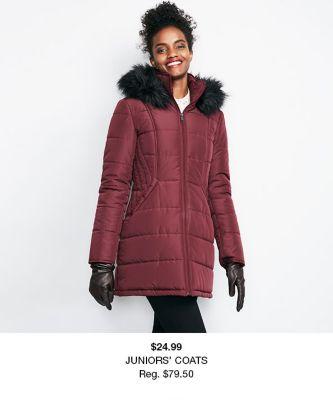 $24.99 Juniors Coats