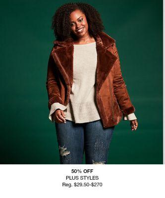 50 percent Off Plus Styles