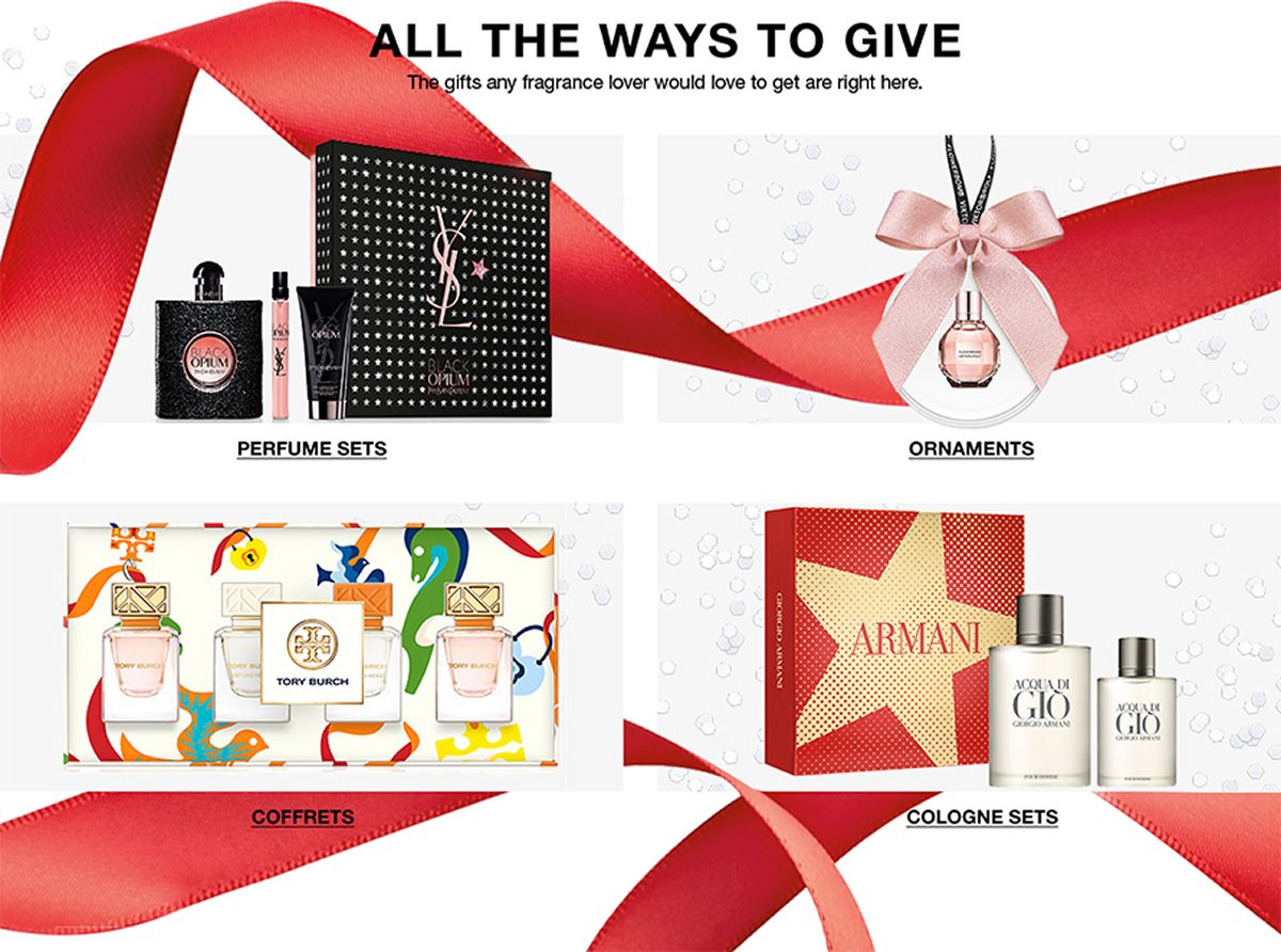 All The Ways to Give, The gifts any fragrance fan would love to get are right hare, Perfume Sets, Ornaments, Coffrets, Cologne Sets