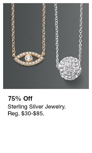 75 percent Off, Sterling Silver Jewelry