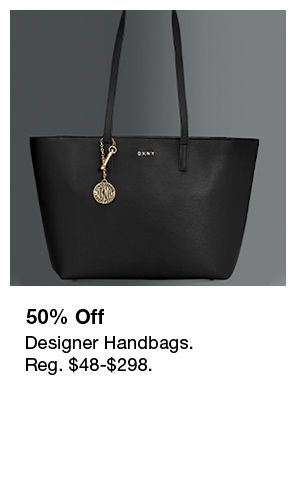 50 percent Off, Designer Handbags, Reg. $48-$298