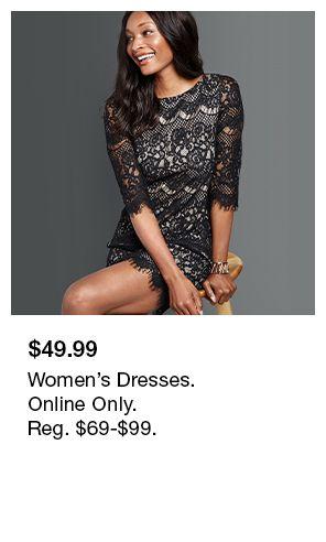$49.99, Women's Dresses, Online Only