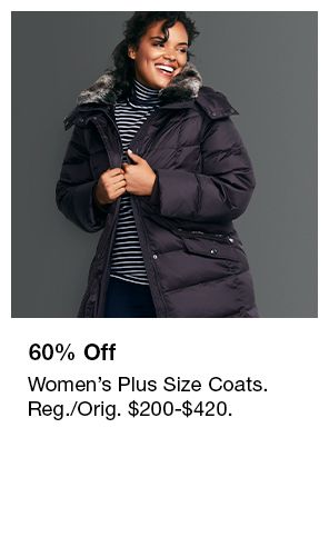 60 Percent off, Women's Plus Size Coats