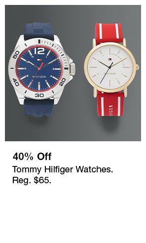 40 percent Off, Tommy Hilfiger Watches, Reg. $65.