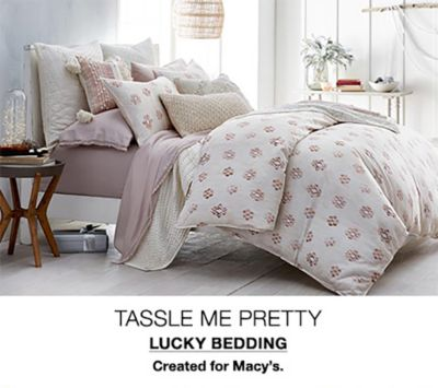 Tasssle me Pretty, Lucky Bedding, Created for Macy's