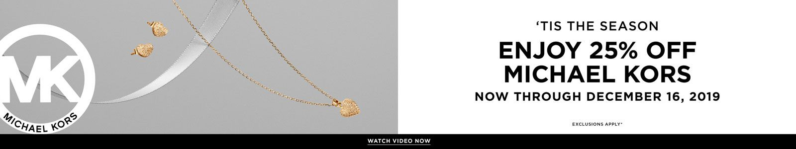 Michael Kors 'Tis The Season Enjoy 25 percent Off Michael Kors Now Through December 16, 2019, Watch Video Now