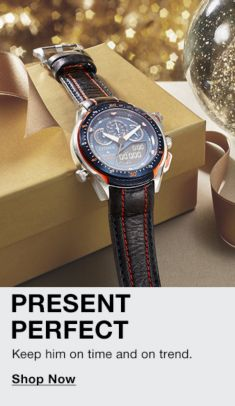 Present Perfect, Keep him on time and on trend, Shop Now