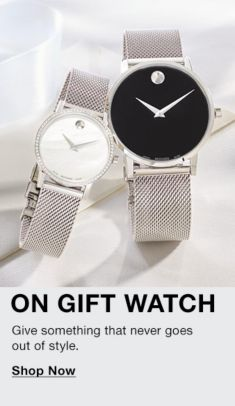 On Gift Watch, Give something that never goes out of style, Shop Now