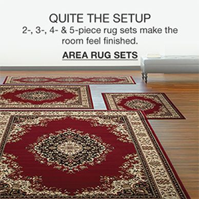 Quite The Setup, 2-,3-,4-and 5- piece rug sets make the room feel finished, Area Rug Sets