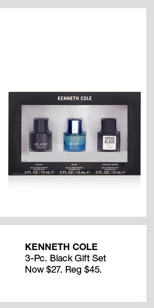 Kenneth Cole, 3-Piece Black Gift Set, Now $27, Reg. $45
