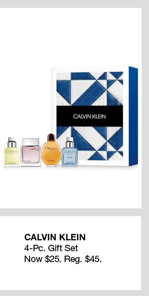 Calvin Klein, 4-Piece Gift Set, Now $25, Reg. $45
