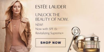 Estee Lauder, Unlock the Beauty of Now, New! Now with Spf 15: Revitalizing Supreme + Shop Now