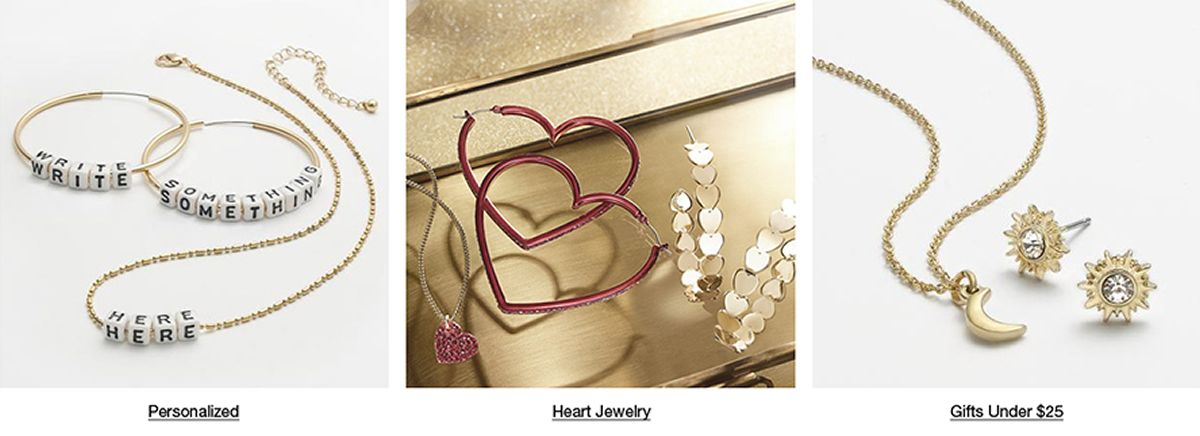 Personalized, Heart Jewelry, Gifts Under $25