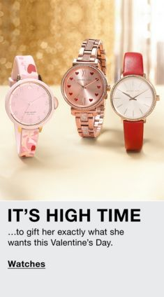 It's High Time, …to gift her exactly what she wants this Valentine's Day, Watches