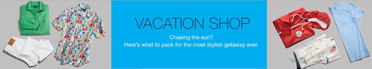 Vacation Shop, Chasing the sun? Here's what to pack for the most stylish getaway ever