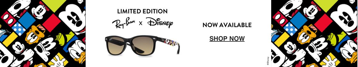 Limited Edition Ray-Ban x Disnep, Now Available, Shop Now