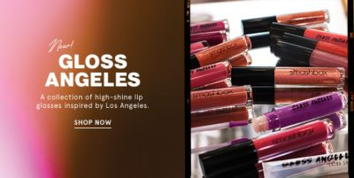 Gloss Angeles, a collection of high-shine lip glosses inspired by Los Angeles, Shop Now