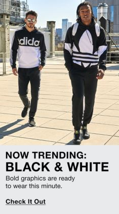 Now Trending: Black and White, Bold graphics are ready to wear this minute, Check it Out