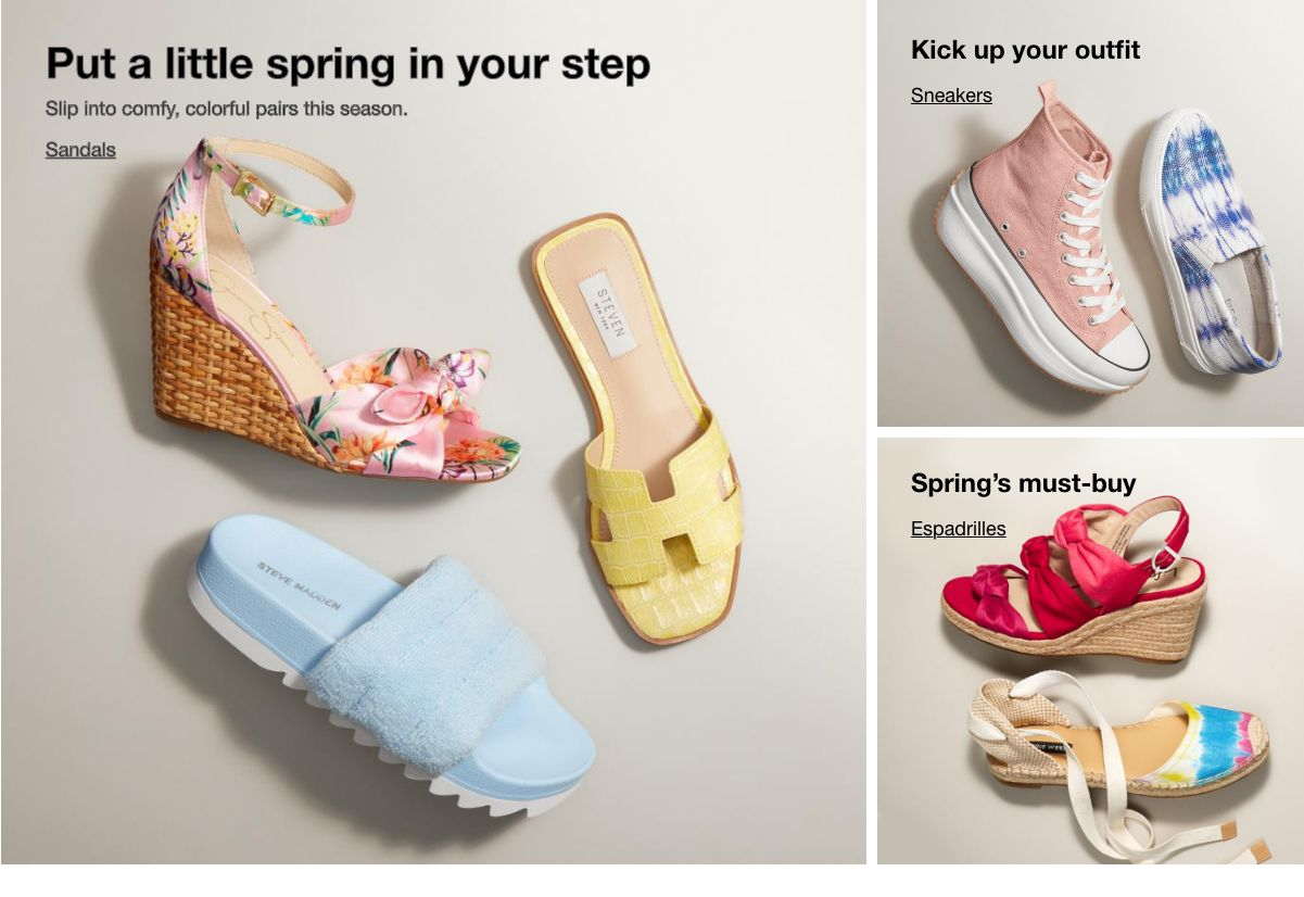 Put a Little spring in your step, Sandals, Kick up your outfit, Sneakers, Spring's must-buy, Espadrills