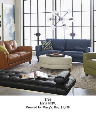 $799, Myia Sofa, Created For Macyu0027s Reg. $1,429