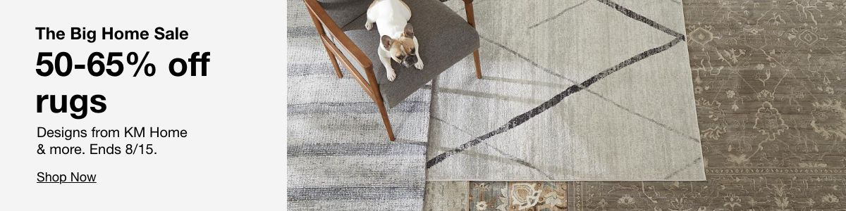 The Big Home Sale 50-65% off rugs