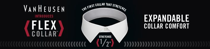 Van Heusen, Introduces, Flex Collar, Expandable Collar Comfort