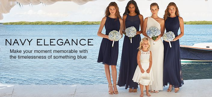 Navy Elegance, A special affair calls for the iconic and effortless beauty of something blue