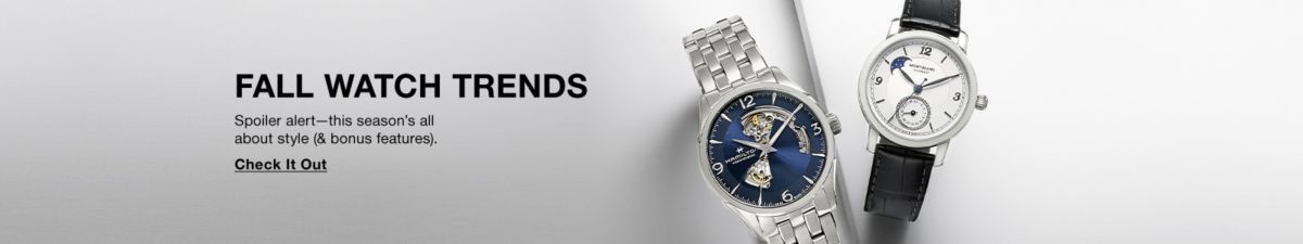 Fall Watch Trends, Spoiler alert-this season's all about style (& bonus features), Check it Out