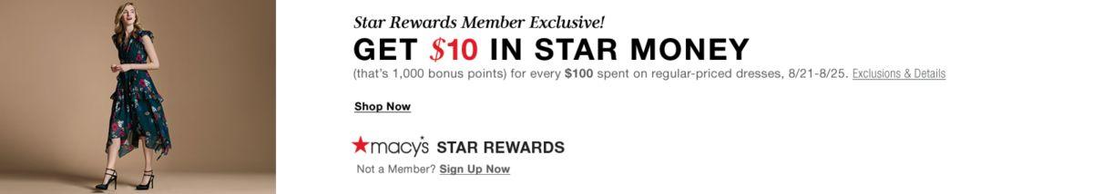 Star Rewards Member Exclusive! Get $10 In Star Money