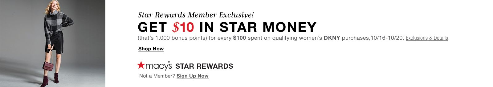 Macy's Star Rewards, Member-Exclusive Offer!
