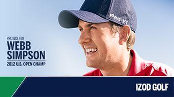 Pro Golfer Webb Simpson 2012 U.S Open Champ, Izod Golf