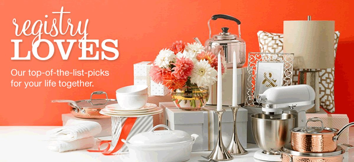 Registry Loves our top-of-the-list-picks for your life together