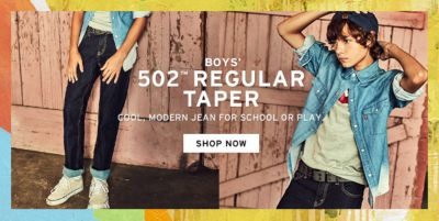 Boys, 502 Regular Taper, Cool, Modern Jean For School or Play, Shop Now