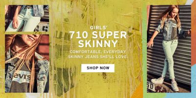 Girls' 710 Super Skinny, Comfortable, Everyday Skinny Jeans She'll Love, Shop Now