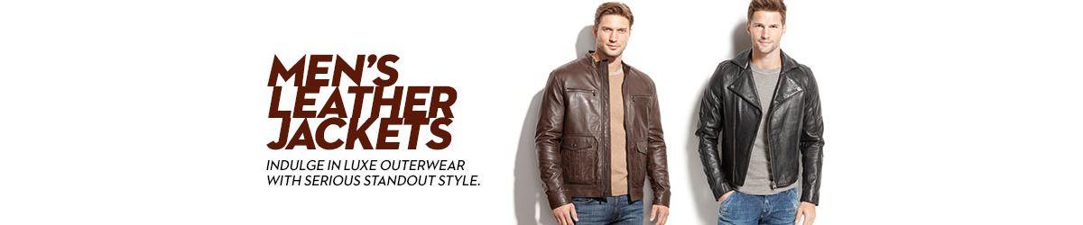 Men S Leather Jackets Men S Leather Coats Macy S