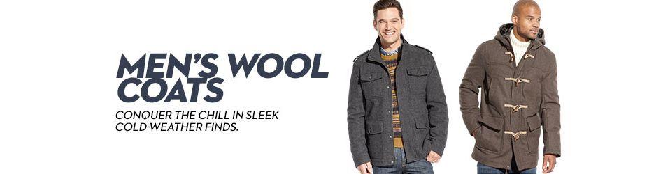 0e6fe3b205 Men's Wool Coats - Macy's