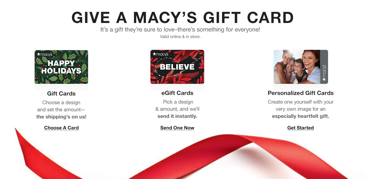 Give A Macy's Gift Card