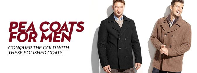 Pea Coats for Men