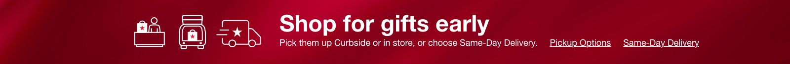 Shop for gifts early