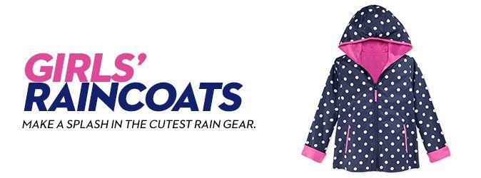 Girls' Rain Coats