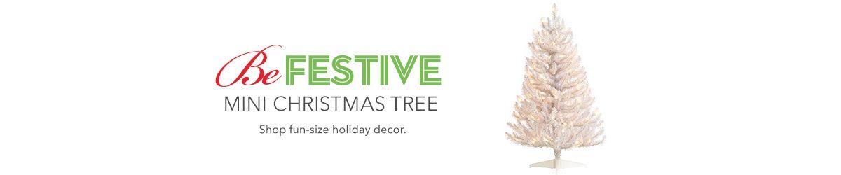 mini christmas tree - White Mini Christmas Tree