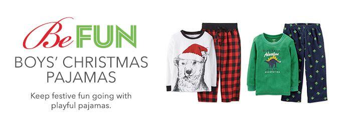 Boys' Christmas Pajamas